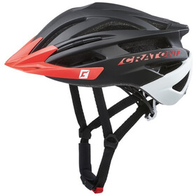 Cratoni Agravic Casco Mtb, black/red matte